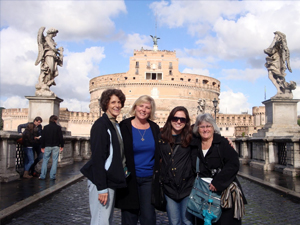 In front of Castel Sant'Angelo
