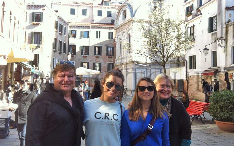 Private tour in Venice with 4 nice guests from USA & Australia