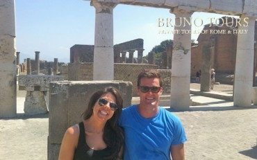 A very nice couple with us in Pompeii