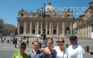 A lovely family with me in St. Peter's Square
