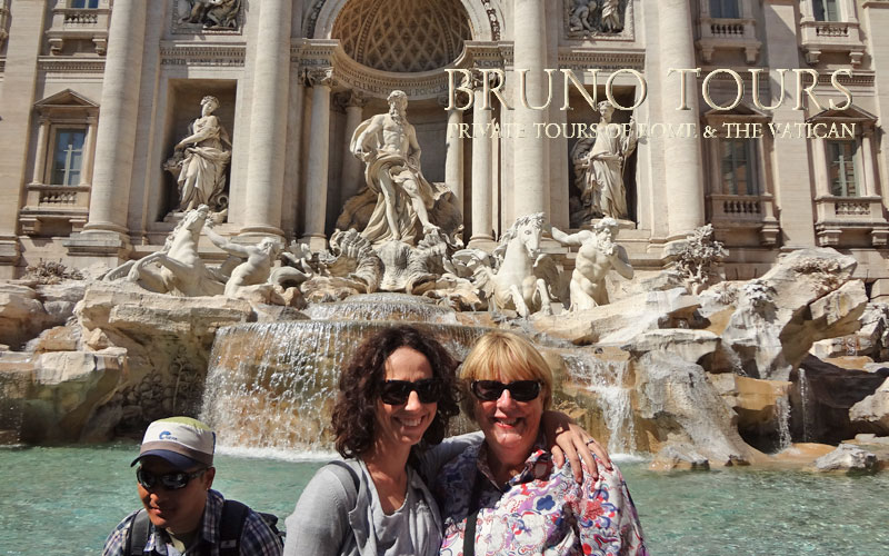 In front of the Trevi Fountain